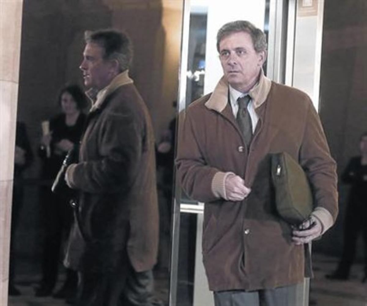 Jordi Pujol Ferrusola, a su llegada al Parlament, el pasado lunes.