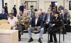 Álvaro Pérez, Pablo Crespo y Francisco Correa, el lunes, ante el tribunal de San Fernando de Henares.