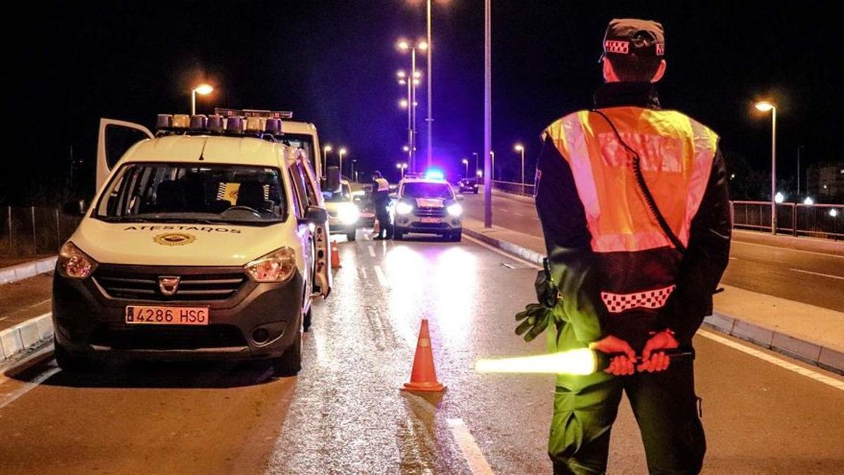 Controles en Alicante durante el toque de queda