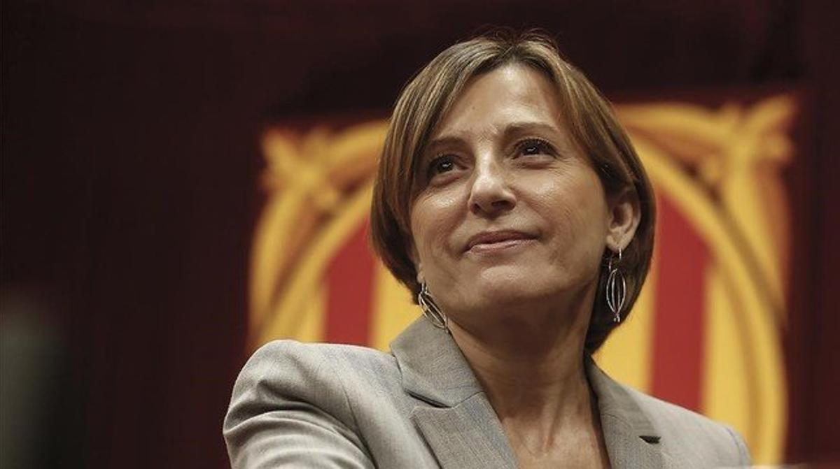 La presidenta del Parlament, Carme Forcadell, en la Cámara catalana el pasado noviembre.
