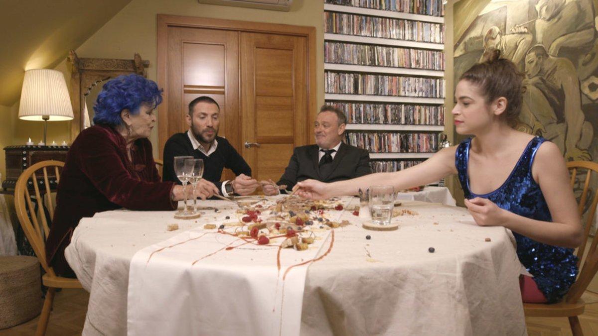 Lucía Bosé, Antonio David, Pablo Carbonell y Cósima Ramírez en 'Ven a cenar conmigo: Gourmet edition'.