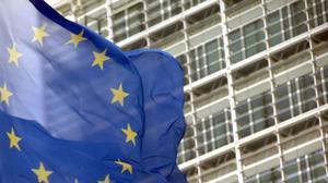Una bandera de la UE.