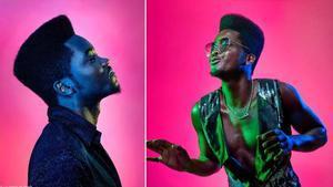 Dos imágenes de Erik Iglesias, Cimafunk de nombre artístico.