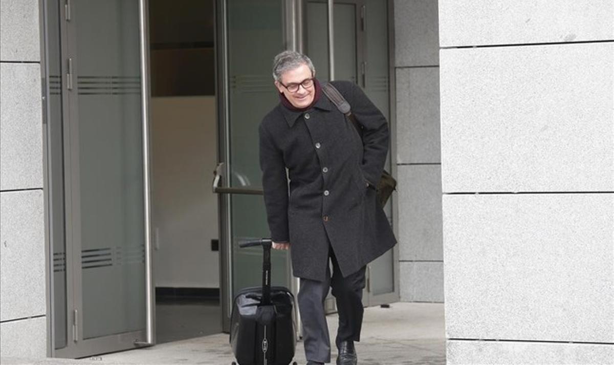 Jordi Pujol Ferrusola, a su llegada a la Audiencia Nacional el pasado 11 de febrero.