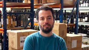 Claudio Comella, en los almacenes de Gourmet Hunters.