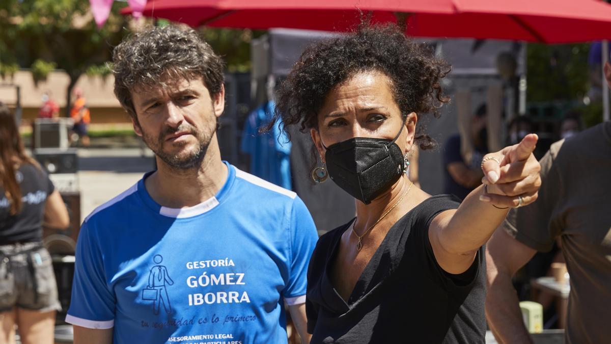 Laura Mañà, en el rodaje de 'Un novio para mi mujer'