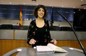 Alexandra Fernández, portavoz de En Marea en el Congreso.