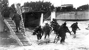 Desembarco de tropas canadieneses en Francia en la Segunda Guerra Mundial.