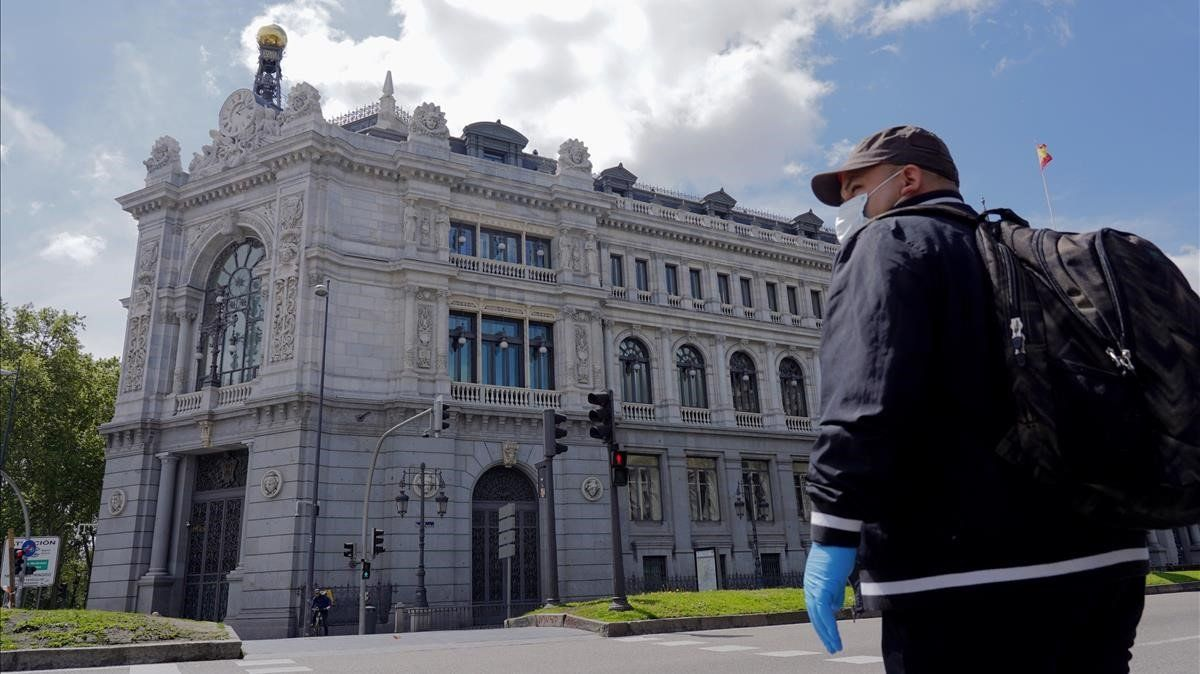 Fachada de la sede del Banco de España.