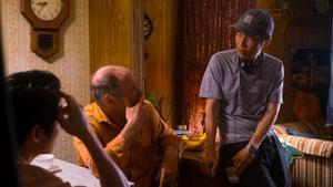 El director, Lee Isaac Chung (derecha), durante una pausa del rodaje.