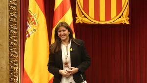 La candidata de Junts per Catalunya (JxCat) a la presidencia de la Generalitat, Laura Borràs, es desde este viernes la nueva presidenta del Parlament.