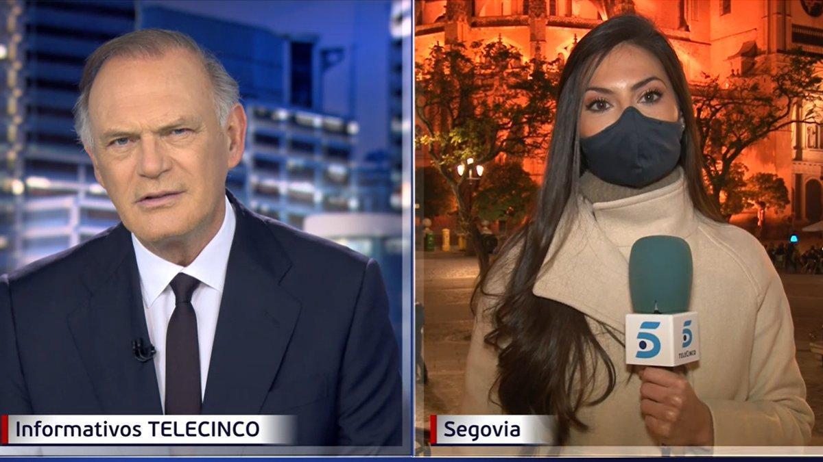 VÍDEO | Reportera a la fuga en directo en el informativo de Pedro Piqueras en Telecinco