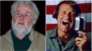 El periodista Adrian Cronauery el actor Robin Williams