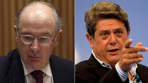 Rodrigo Rato: El señor Bárcenas no me ha dado dinero nunca. En la foto, Rodrigo Rato y Federico Trillo.