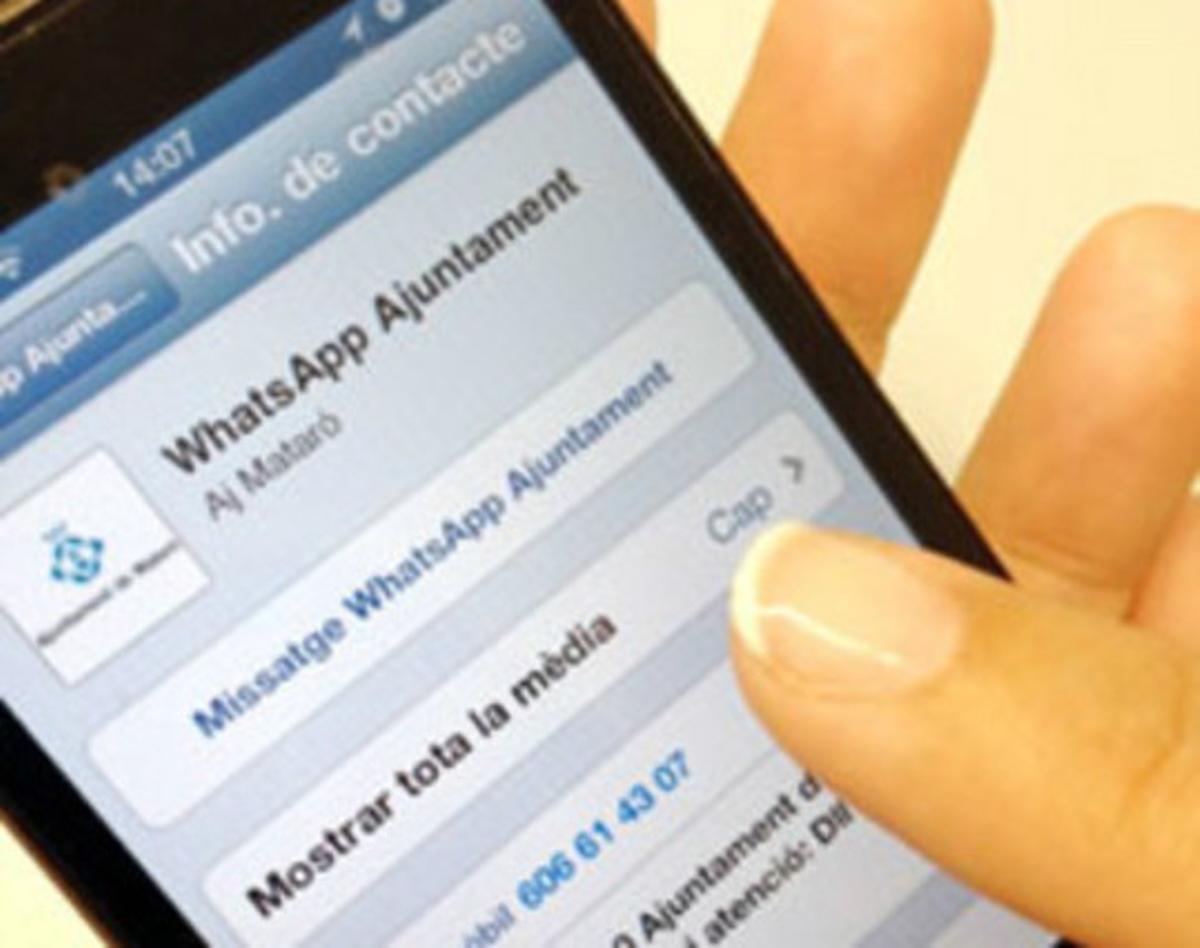 Mataró pone en marcha un nuevo canal de atención ciudadana para Whatsapp.