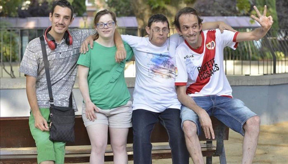 De izquierda a derecha,Alberto Fernández,Fran 'Paquillo'Fuente,Sergio Olmos yGloria Ramos.