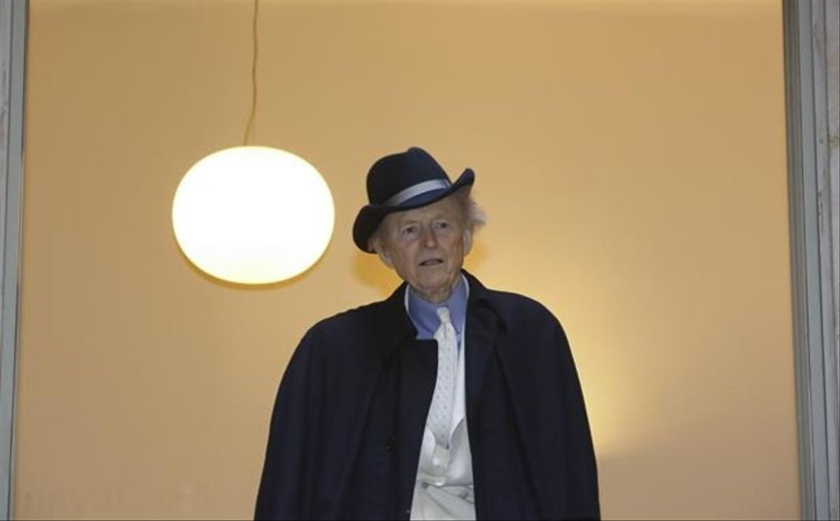 Tom Wolfe, este martes, en Barcelona.