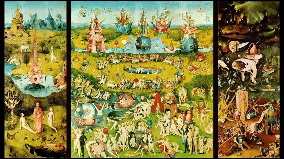 El tríptico 'El jardín de las delicias', una de las obras maestras de la gran exposición que el Prado dedica a El Bosco.