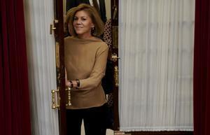Cospedal, en noviembre de 2018, en uno de sus últimos días como diputada.