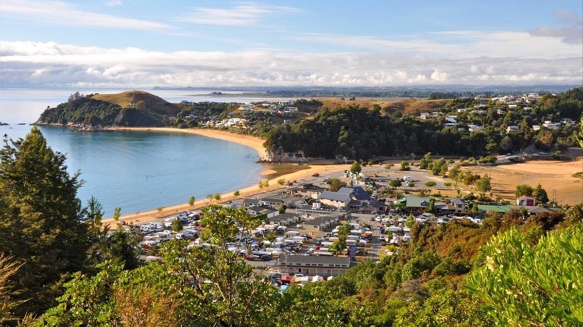 Un paisaje de Nueva Zelanda.