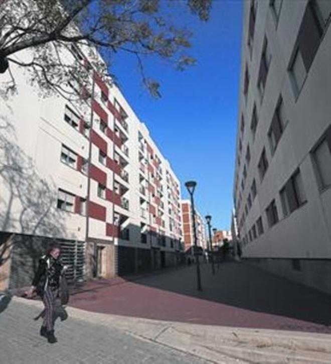 Un barrio recuperado8Nuevos pisos de la calle de Almansa.