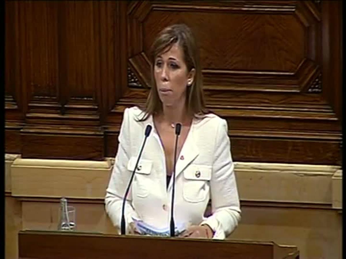 Alicia Sánchez-Camacho durante la sesión en el Parlament.