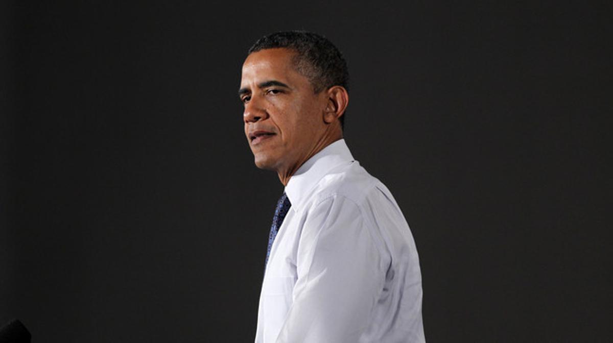 Barack Obama, el miércoles, en un acto de campaña en Akron (Ohio).
