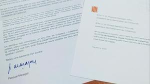 La carta que ha recibido el Ayuntamiento de Els Guiamets.