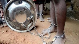 Uno de los menores liberados en Nigeria.