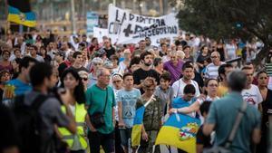 Una protesta vecinal contra la inseguridad en el 2018 en la Barceloneta.