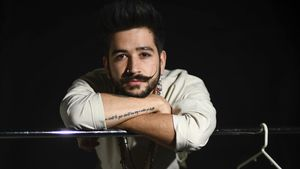 El cantante colombiano Camilo, este viernes, en Barcelona.