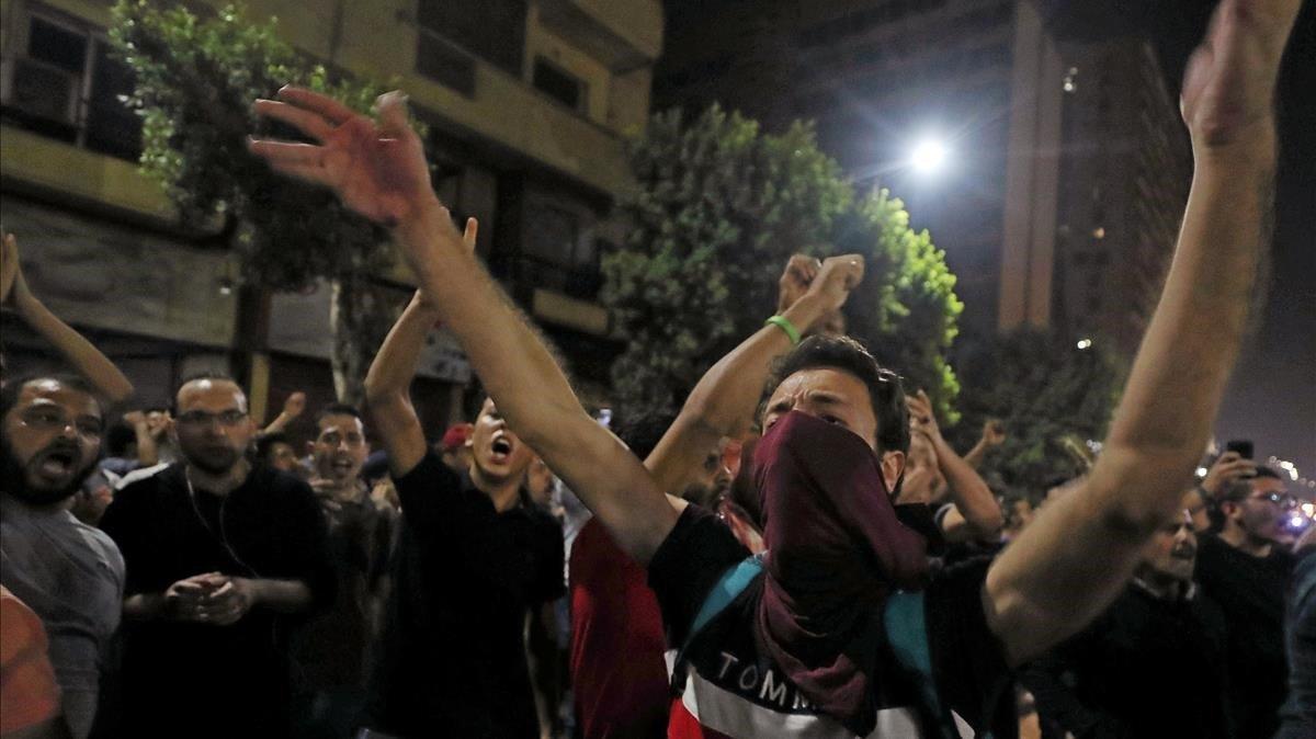Protesta del viernes en El Cairo.