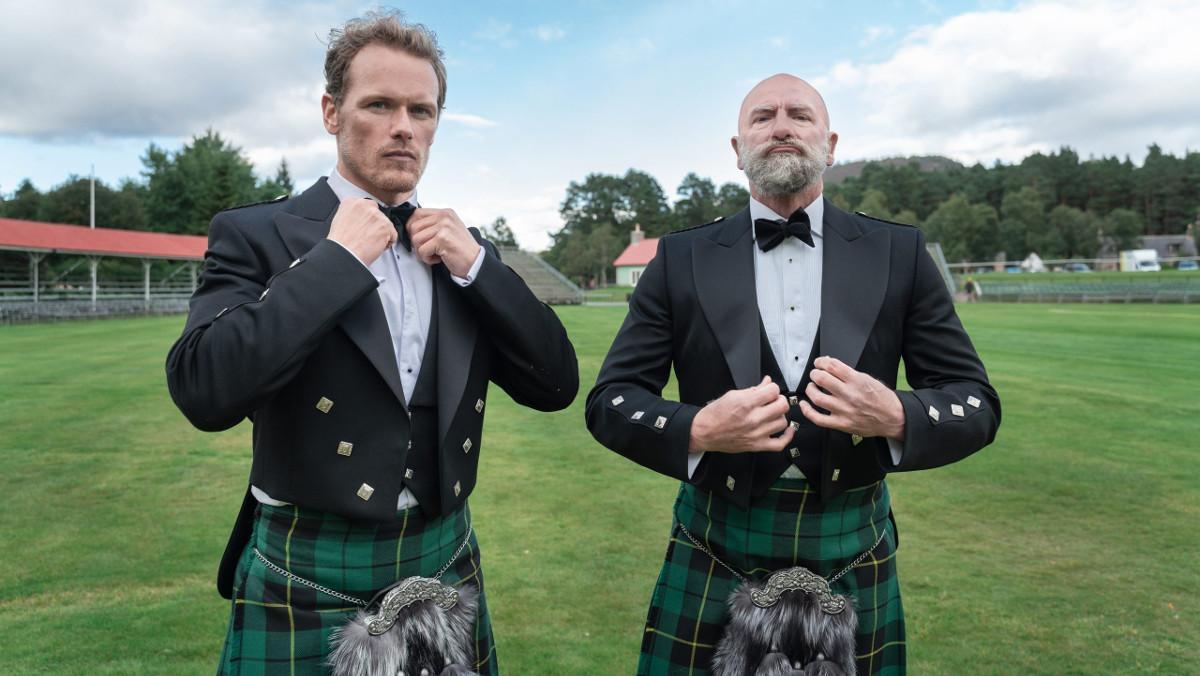 Sam Heughan y Graham McTavish, en 'Men in kilts'