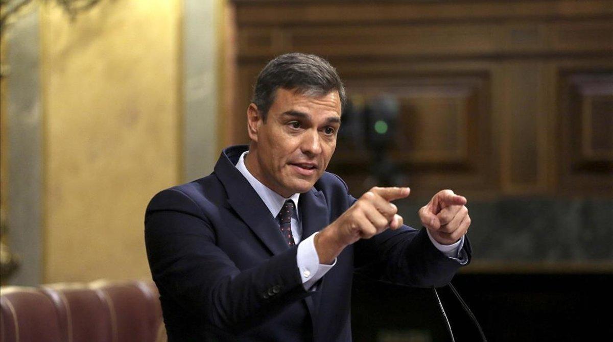 Pedro Sánchez, el pasado 11 de septiembre en el Congreso de los Diputados.