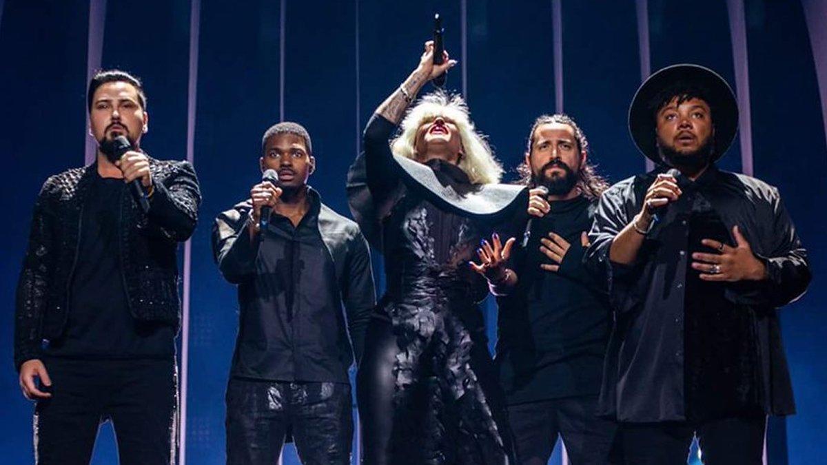 El grupo Equinox en Eurovisión 2018.