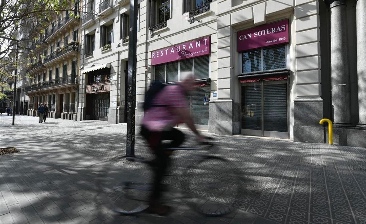 Restaurante Can Soteras en el passeig de Sant Joan amb la Diagonal.