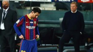 El delantero del FC Barcelona Leo Messi durante el partido ante el Valencia.