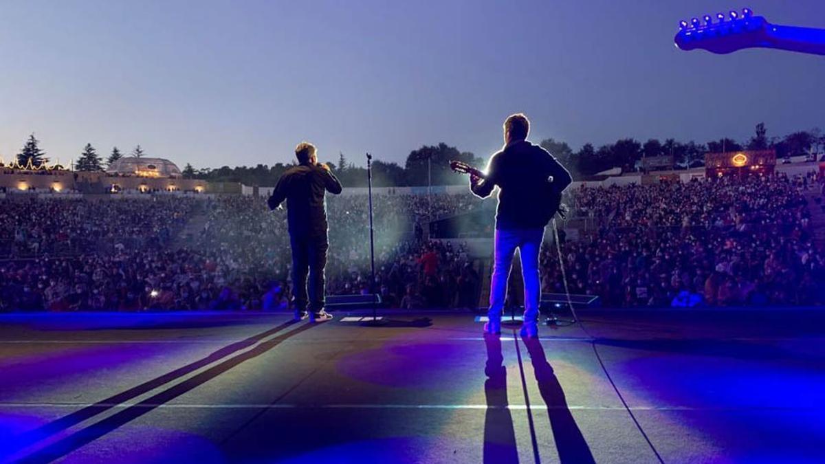 Estopa, en el concierto que ofrecieron el 29 de julio en Santiago.