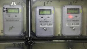 Contadores de electricidad en una comunidad.