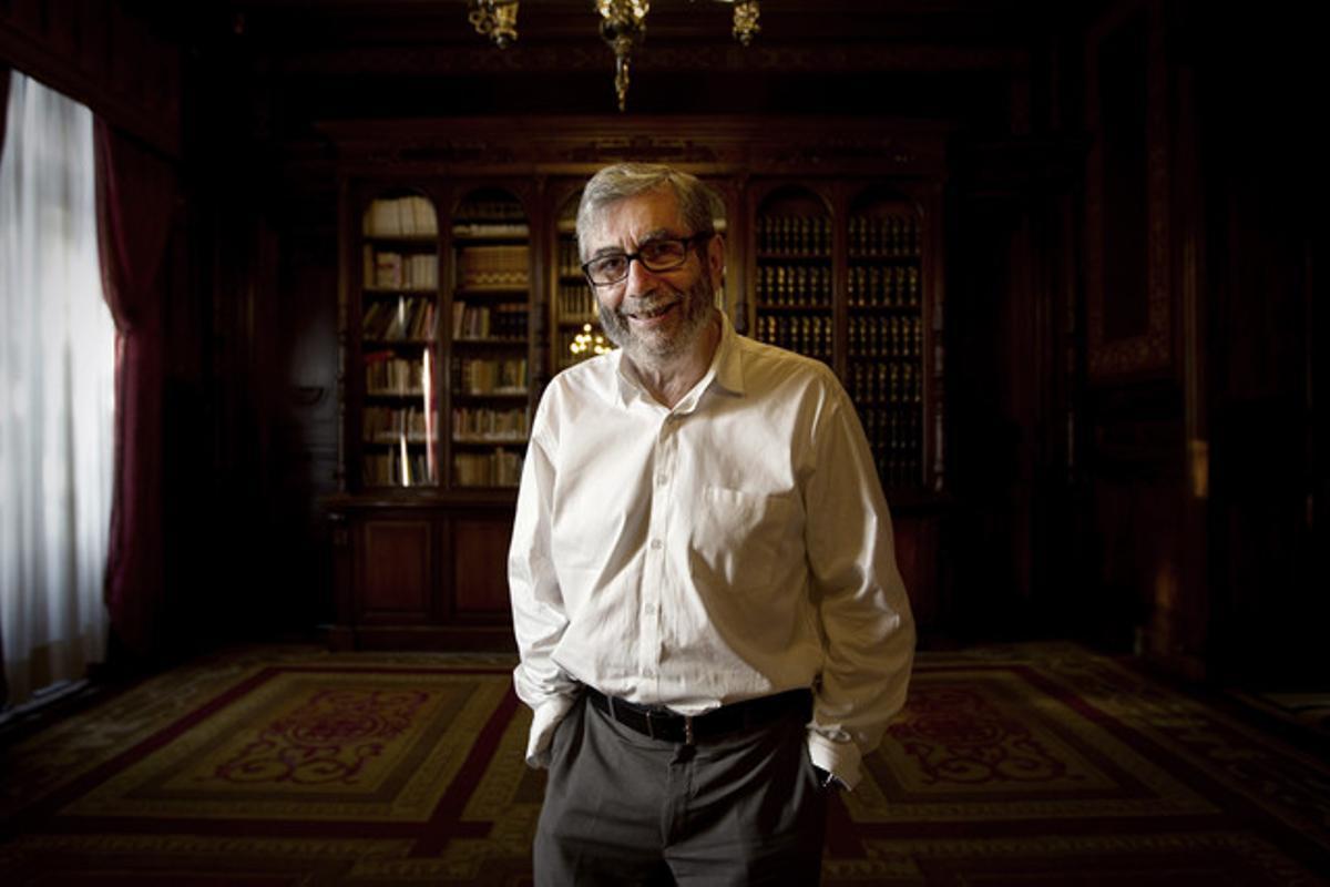 Antonio Muñoz Molina, en la Casa América, en Madrid.
