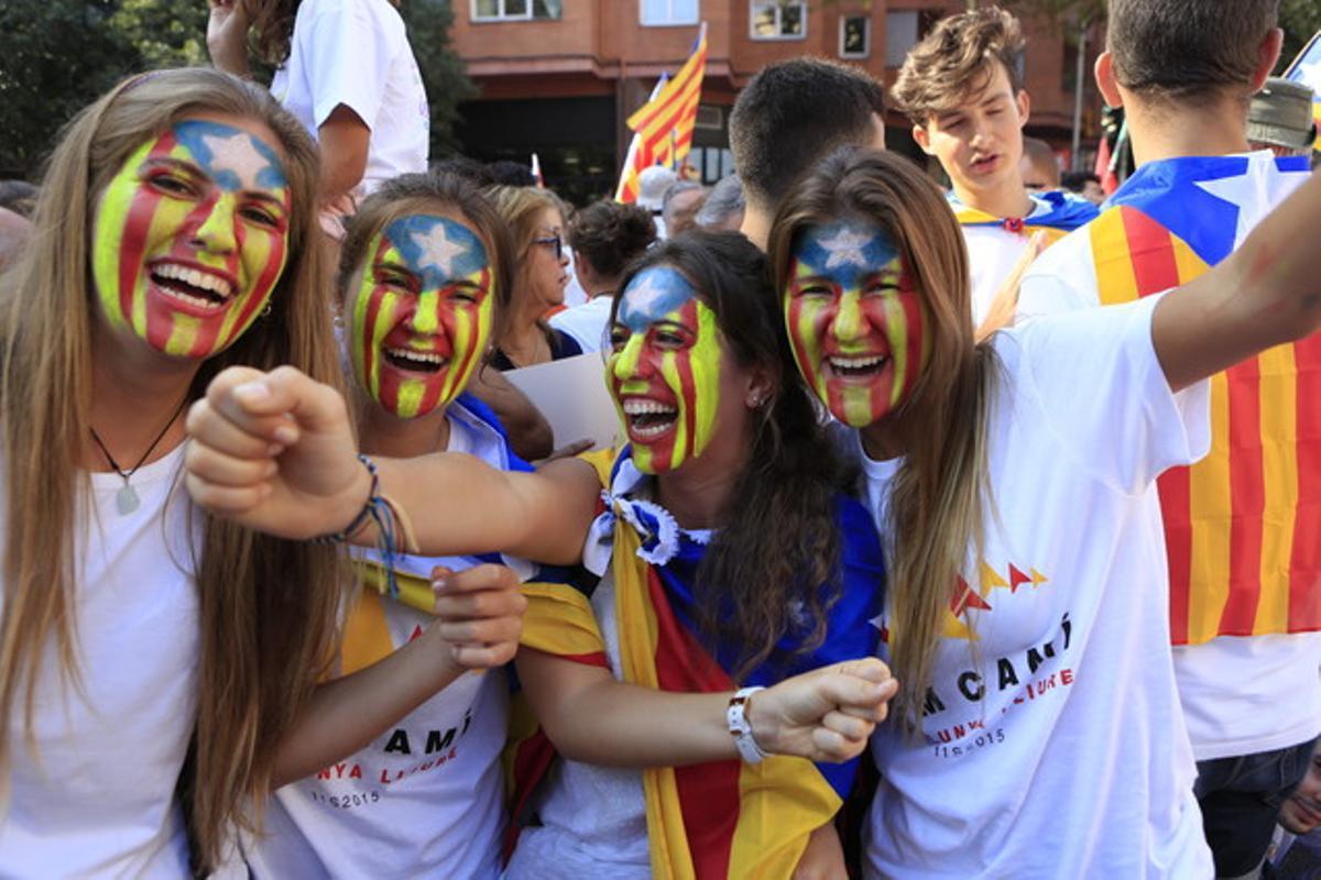 Participantes en la Via Lliure en el 2015.