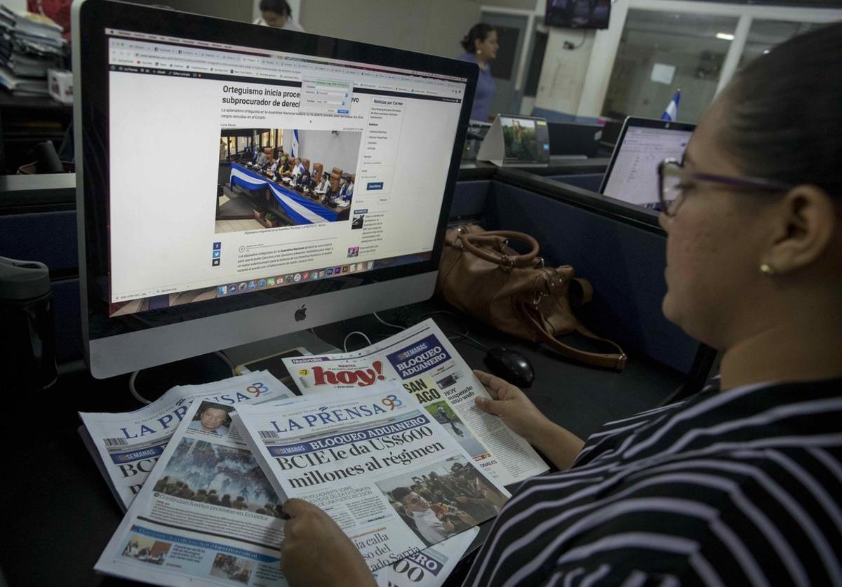 El Estado nicaragüensemantiene un aduanero del papel, tinta y otras materias al Grupo Editorial La Prensa.