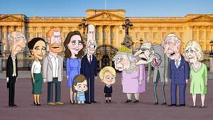 La famlia real británica, con el pequeño George en el centro.