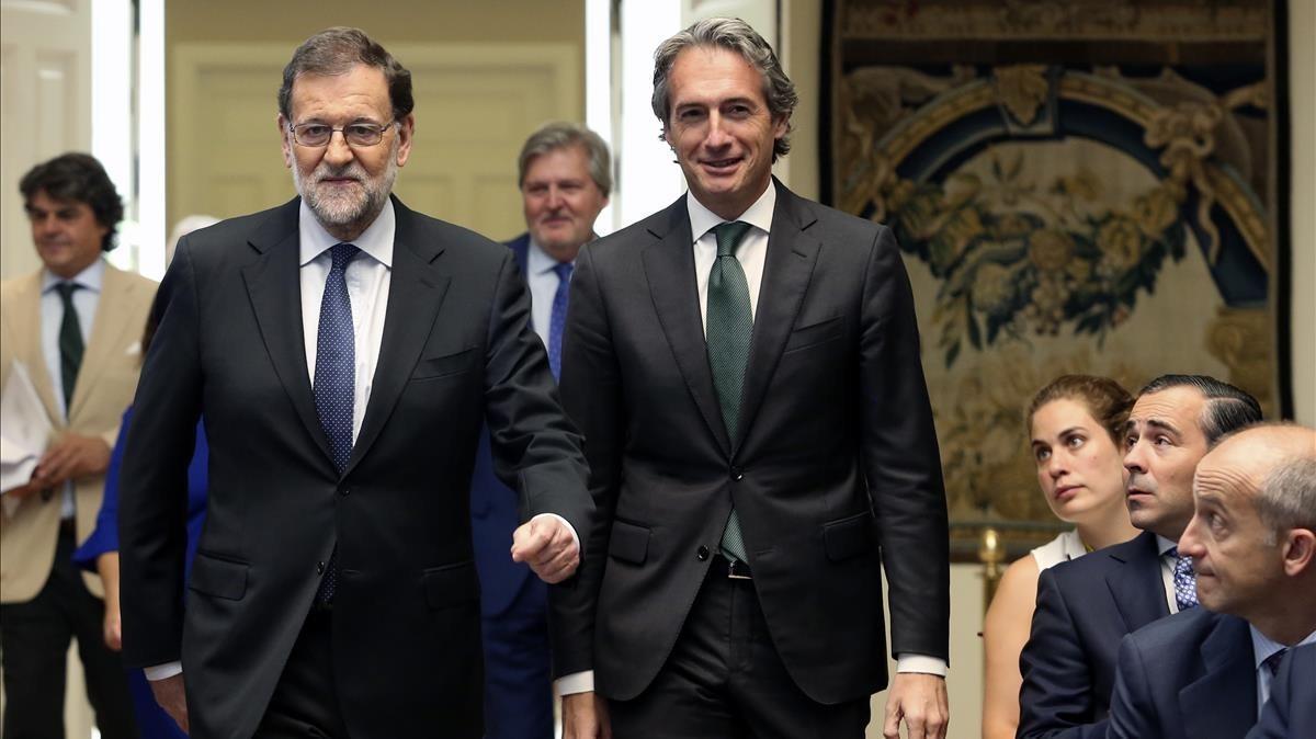 Mariano Rajoy e Íñigo de la Serna, en la Moncloa, en julio del 2017