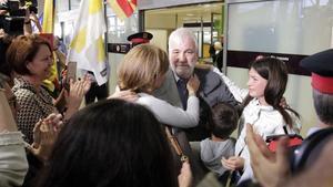 Josep Maria Matamala, a su llegada al aeropuerto de Girona