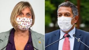La 'consellera' Alba Vergés y el 'conseller' Miquel Sàmper.