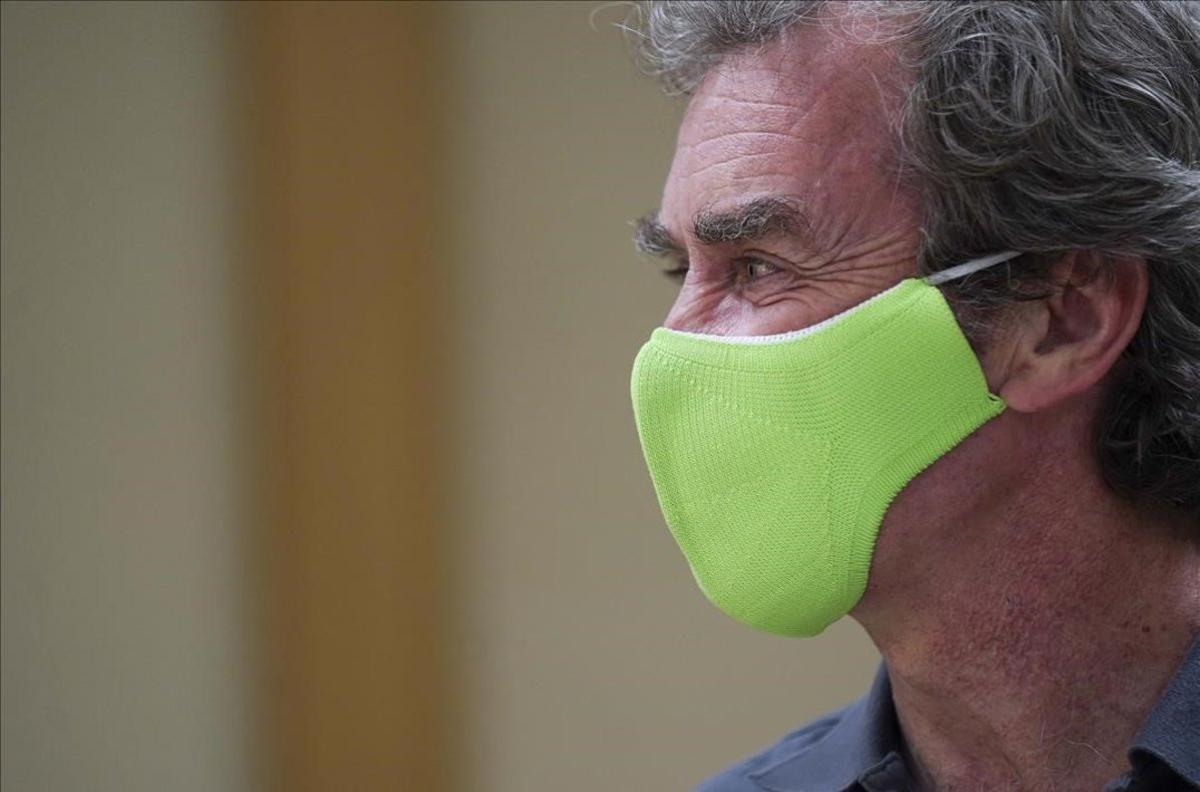 Fernando Simón durante la rueda de prensa que freció esta tarde.
