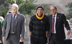 Lluís Llach y Quim Torra, en la reunión del consejo asesor del Fórum Cívic i Constituent.