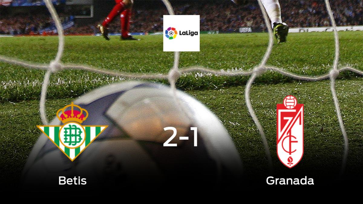 Victoria del Real Betis por 2-1 frente al Granada