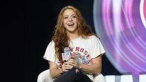 Shakira, en una conferencia el pasado mes de enero en Miami.
